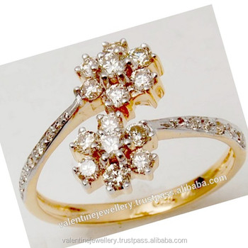 Latest Design Diamond Ring Buy Girlish Cluster Diamond Ring