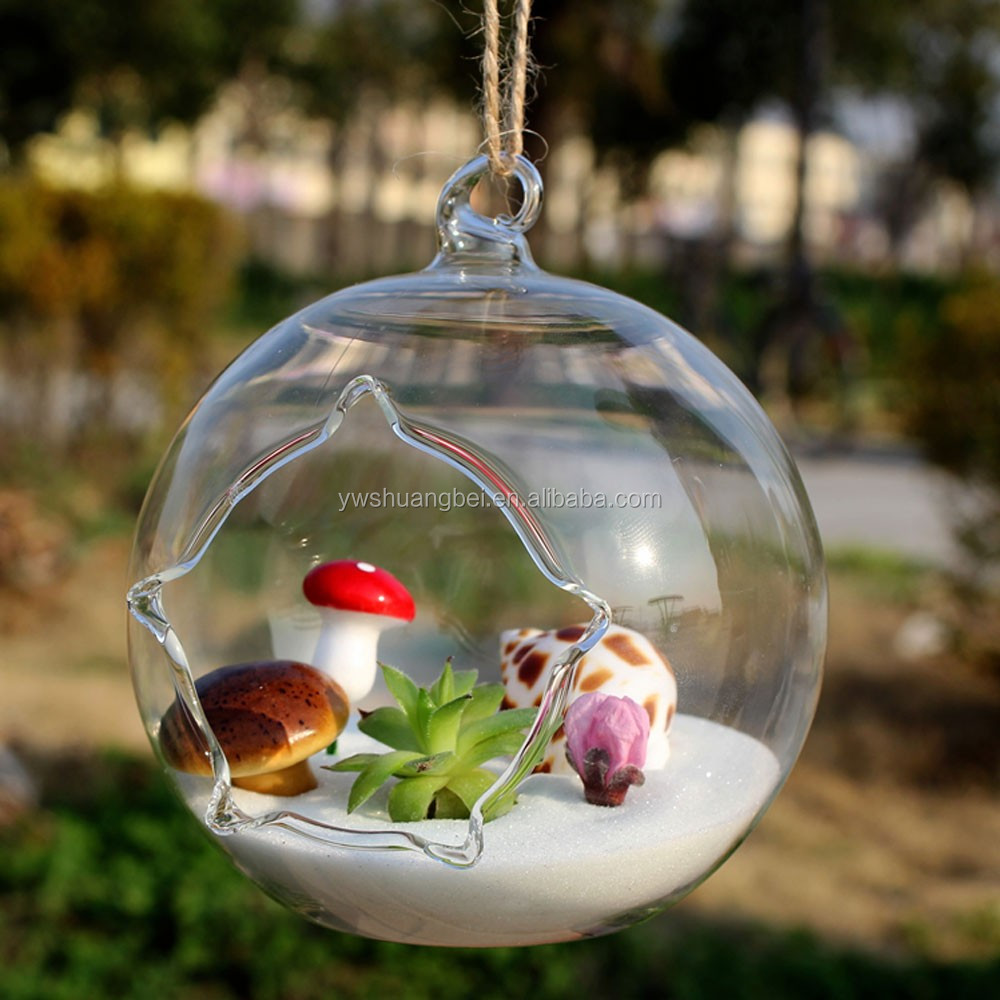 New Design Unique Hanging Crystal Glass Flower Vases Air Plant Glass