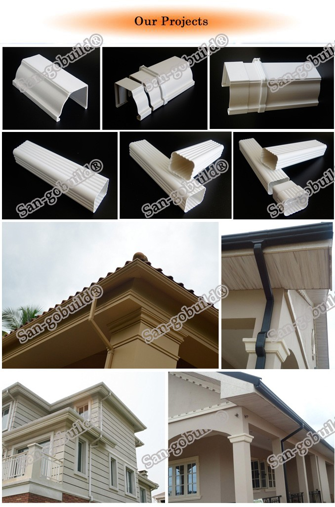 plastic building material 5 2 inch pvc rain gutter system china mainland plastic tubes. Black Bedroom Furniture Sets. Home Design Ideas
