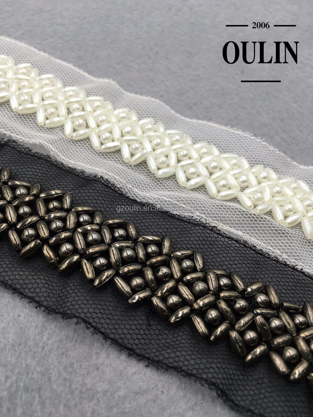 white lace trims pearl type lace can be attached on garment pearl lace trims