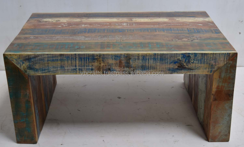 Recycled Old Scrap Wood Coffee Table