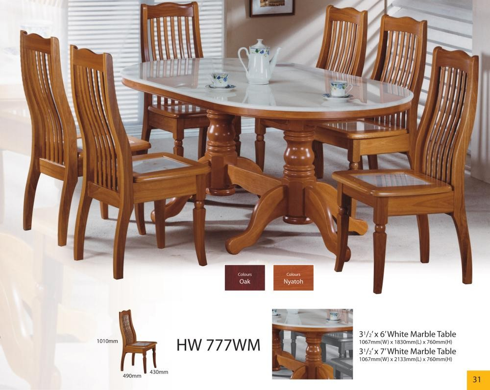 Modern Asian Design Solid Wood Dining Table Amp Chairs With