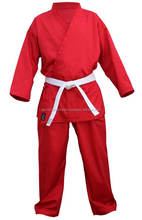 100% Cotton Red Karate Uniforms, Karate gi, Kyokushin Karate Suit with / Martial Arts Karate