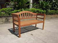 Bench 2 Seaters, Eucalyptus Hardwood, Natural oil finish, Flat Package, Perfect quality. 12 Guarranty Months.