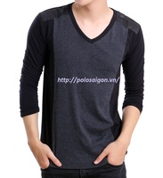 Men T-shirt, long sleeve, 100% cotton