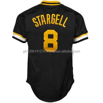 Diseñar su propio jersey de béisbol t-shirt-negro con amarillo personalizar  Logotipo de 6e3260eb387b2