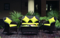 2016 New Model Style Poly Rattan Sofa Set Garden 2 chairs, 1-2 seater, 1 table