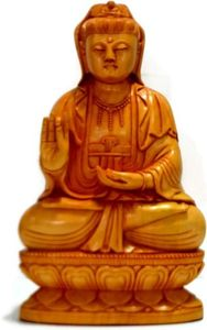 Wooden Buddha Statue Handmade Sculpture Showpiece Figurine Decorative Gifts art