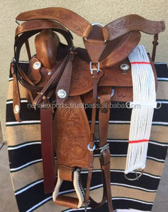 "15"" NEW WESTERN BARREL RACING PLEASURE TRAIL SHOW HORSE LEATHER SADDLE"