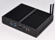 Intel 5th Gen Core i7 5500U Mini PC android compatible nettop pc 4K HD HTPC TV box 2* LAN paypal acceptable
