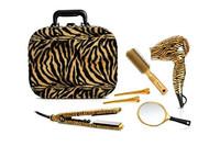 TI CREATIVE Quality Vanity Case Gold Zebra