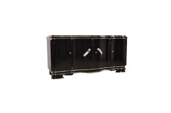 Xxl Art Deco Sideboard From Belgium In Highgloss Black Buy Black