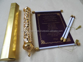 royal theme scroll invites for bar mitzvah celebrations scroll