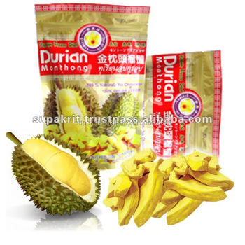 Vaccum Freeze Dried Durian Monthong From Thailand [ Healthy Dried ...