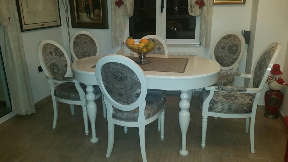 Shabby chic antiken klassische rustikale franz sisch stil vintage stuhl tisch esszimmer sets set - Esszimmer franzosisch ...