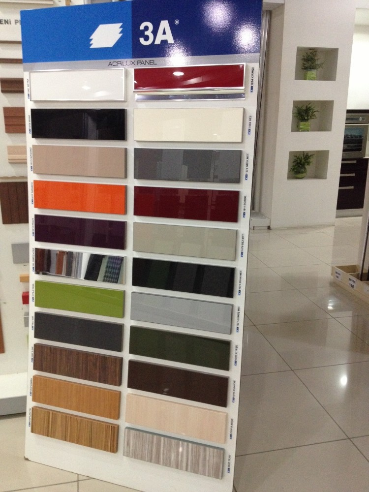 3a senosan acrylique brillant panneaux armoire de cuisine. Black Bedroom Furniture Sets. Home Design Ideas