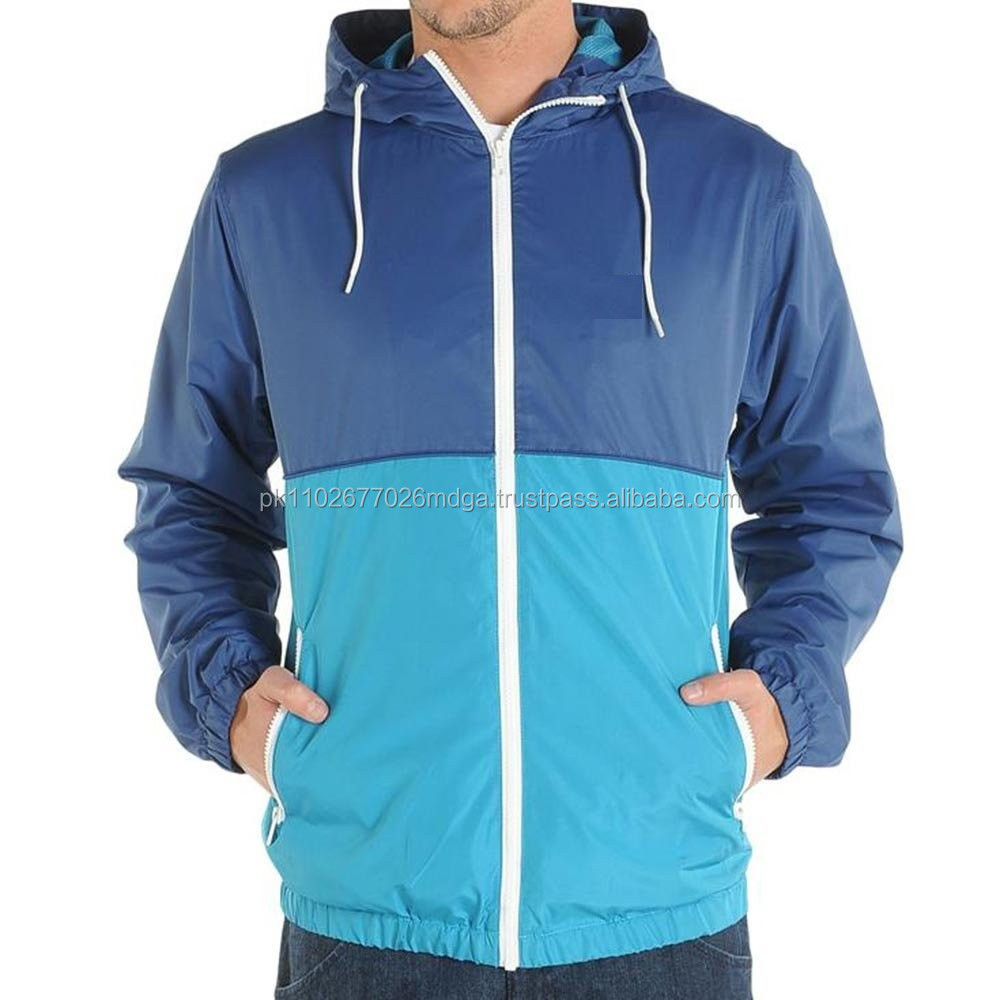 Mens Nylon ripstop full zip rain jacket