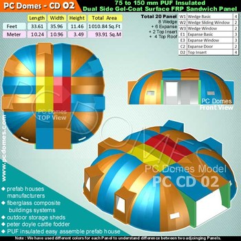 Fiberglass Domes Types,outdoor Storage Sheds, Peter Doyle Cattle Fodder,  Fiberglass Composite Buildings