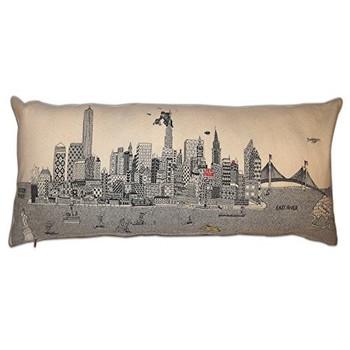New York Brodé Skyline Housse De Coussin-