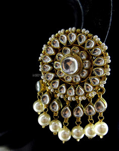 aebf54ac3142d Big Round Kundan Earrings