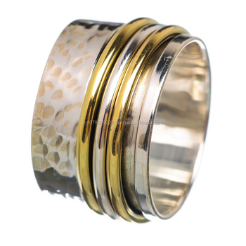 meditation ring silver copper ring 925 solid sterling