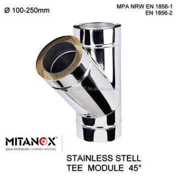 Stainless Steel Double Wall Insulated Chimney Wood StovePellet