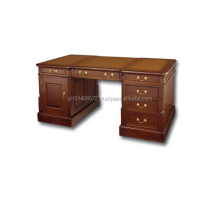 Executive Wooden Mahogany Office Desks Partner 180 Indonesia Furniture.