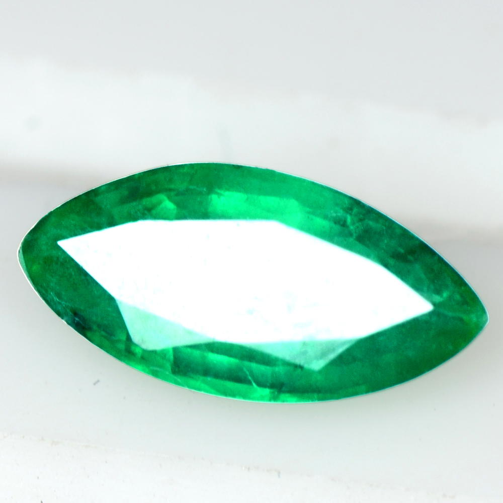 0.71 Cts Natural Top Rich Green Emerald Marquise Cut Zambia 9x4.5 mm Loose Gems