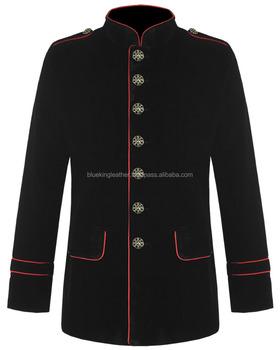 Pentagramm mich Männer Military Jacke Schwarz Rot Samt Gothic Steampunk Buy Männer Military Jacken,Gothic Mode Jacken,Dark Mode Jacken Product on