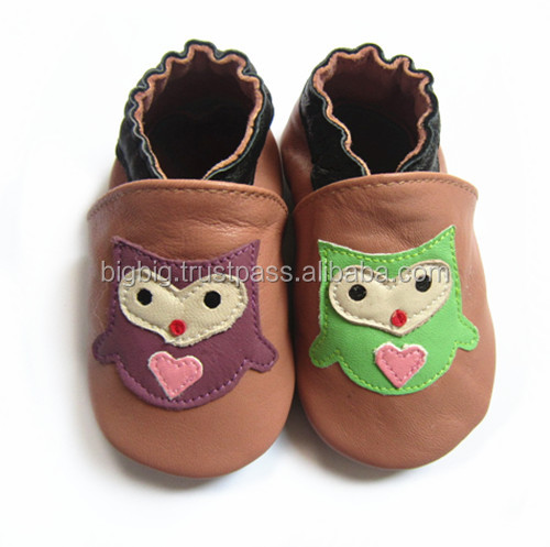Baby shoes soft sole lovely leather children shoes