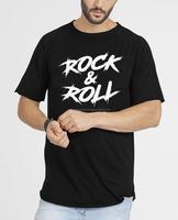 Rock & Roll Men Boys Longline T-Shirts Fashion Short Sleeve Sport Whole Custom Stylish Cheap Design Embroider Customized Print