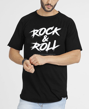 Rock & Roll Men Boys Longline T-Shirts Fashion Short Sleeve Sport Whole Custom Stylish Cheap Design Embroider Customized Print