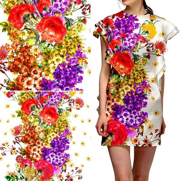 Custom printing fabric digital printed textile fabric for Fabric printing