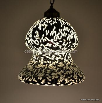 Unique Fabriques A La Main Or Lampe Suspendue Lanterne Lustre