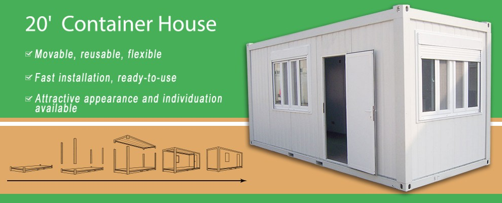 Low Cost Small 3 Bedroom Prefab Modular Home Container