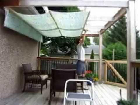 Get Quotations · DIY Retractable Pergola Canopy Awning