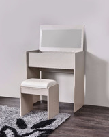 Simple Dressing Table with Mirror/Storage and Stool New Dressing Table