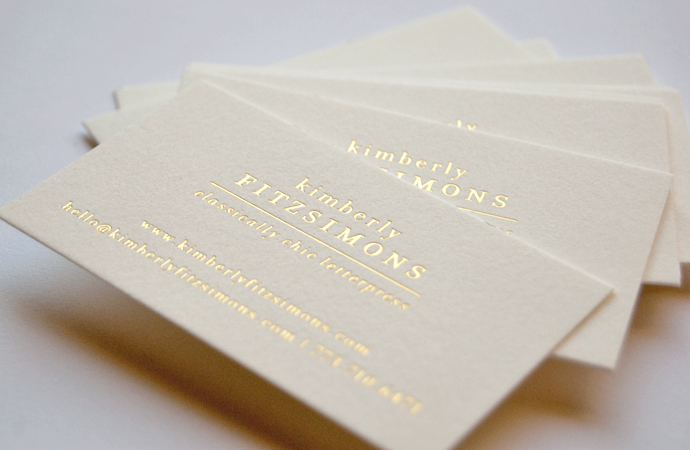 Business Cards With Gold Foil