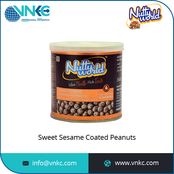 100% Pure and Organic Sweet Sesame Coated Peanuts Selling by Reputed Manufacturer