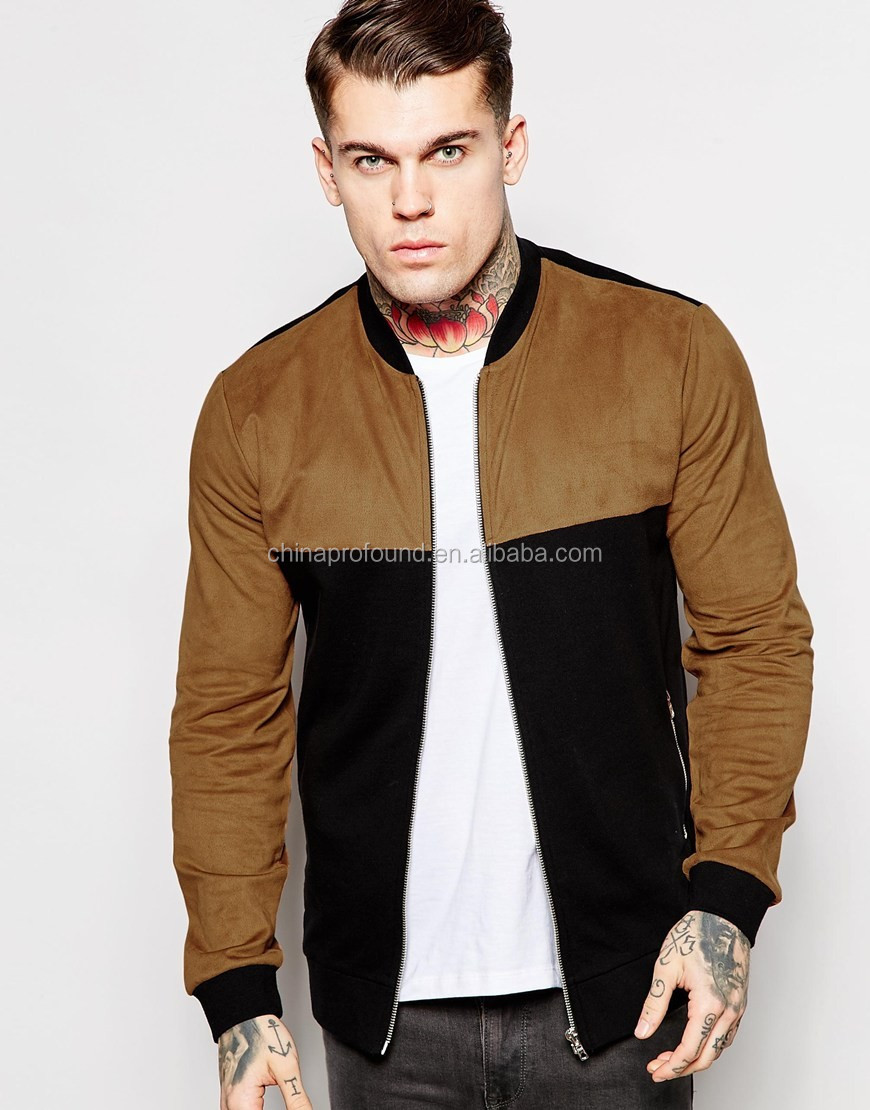 88351083c Latest Design Mens Quilted Bomber Jacket Wholesale Suede Panel Custom Mens  Bomber Jacket - Buy Custom Bomber Varsity Jacket,Quilted Bomber Jacket ...