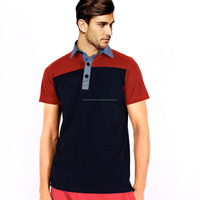 Custom Panel Polo Shirt / Red & Black Combination Polo shirt /