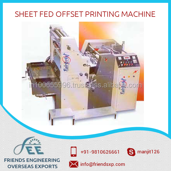 Sheet Fed Offset Printing Machine with Exclusive Specifications