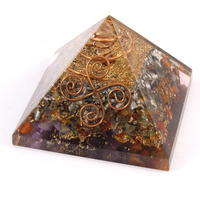 Wholesale Quality Orgone Pyramid From Indian Manufacturer : Chakra Stone With Swastik Coil & Copper Rounded on the Crystal Point