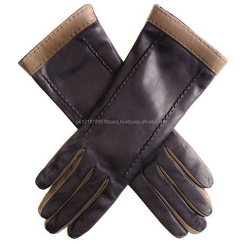 8b8f049fef98 Black And Taupe Musketeer Leather Gloves - Buy Leather Winter ...