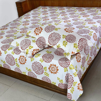 Bagru Textile Hand Block Printed Indian Bedsheet Full Size Chinese Whole Cotton Print