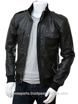 High Quality Leather Jackets - Black Lamb Leather Jacket For Men ...