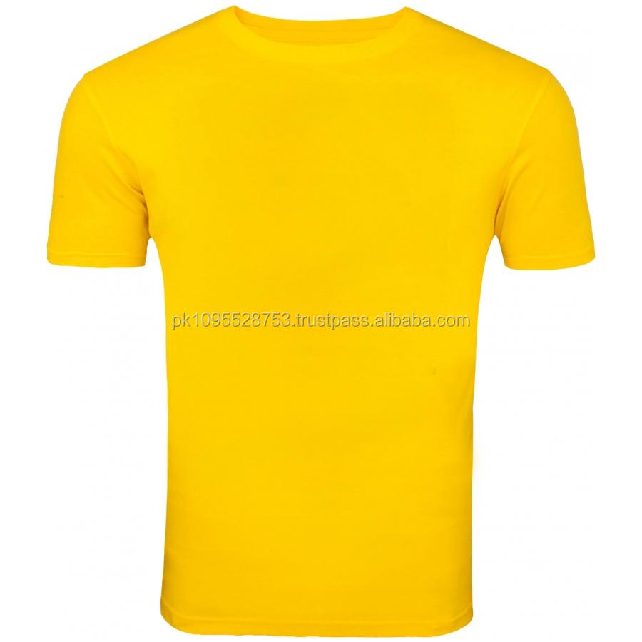 Customize Plain T Shirt For Men Yellow Color Plain T Shirt Buy