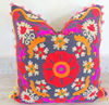 "Vintage Suzani Embroidery Cushion Cover Home Decor Pillow Cover Sofa Case Cover 16X16"" Pillow Indian Manufacturer & Wholesaler"