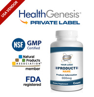Private Label GABA 500 mg with B-6 100 Capsules Enhanced from NSF GMP USA Vendor