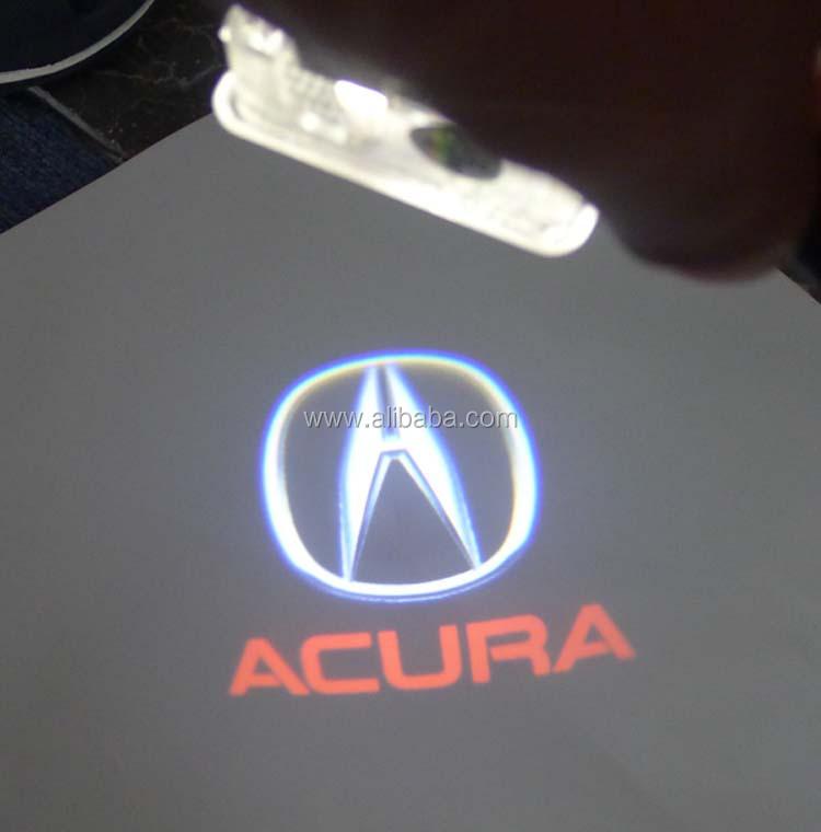 2 X Latest Led Car Door Ghost Shadow Logo Light For Acura